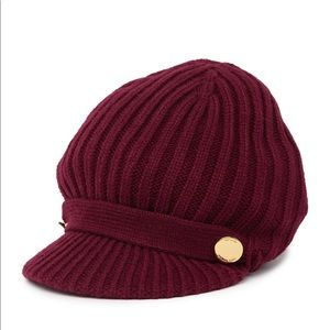 🆕 MICHAEL KORS rib knit peak cap